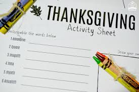 free thanksgiving activity sheet creativities galore