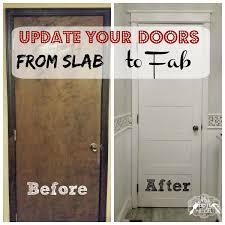 from slab to fab diy 5 panel door slab doors wood trim and doors