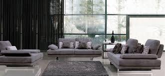 Grey Contemporary Sofa by Fabric Modern Sofa W Optional Loveseat U0026 Chair
