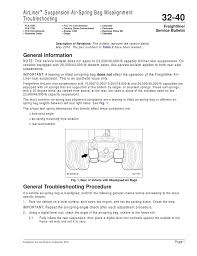 airliner suspension air spring bag misalignment troubleshooting