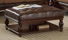 Brown Ottoman Modern Brown Leather Ottoman Coffee Table Dans Design Magz