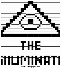 Meme Faces In Text Form - the illuminati ascii text art symbol cool ascii text art 4 u