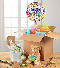 balloons in a box cookies and balloons ftd flowers roses plants and gift baskets