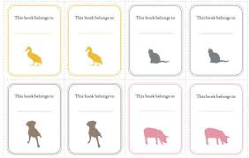 free book plate templates