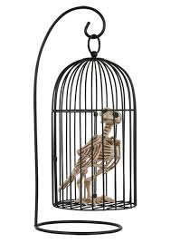 halloween skeleton images skeleton bird in cage