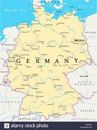 map of germany showing rivers germany political map with capital berlin national borders most