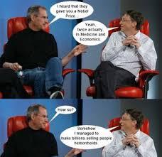 Bill Gates Steve Jobs Meme - steve jobs vs bill gates by ben meme center