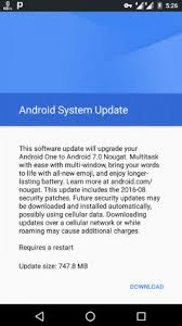 android security update android one mobile 7 0 nougat official ota update android infotech