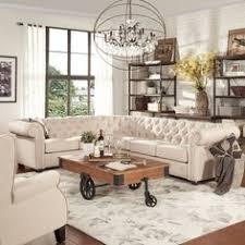 gray u0026 white living room decor white tufted sofa prada canvas