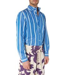 two button krall shirt blue stripes vivienne westwood
