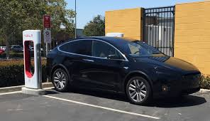 suv tesla blue tesla model x crossover spotted at supercharger site has cool