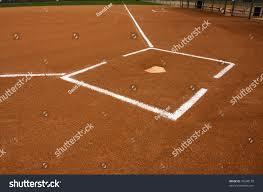 baseball field home plate chalk lines stock photo 79248178
