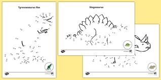 dinosaurs dot dot sheets dot dot sheets dinosaurs dot