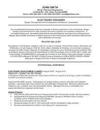 sample electronics engineer resume sample software engineer