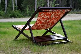 Handmade Wooden Outdoor Furniture by Ana White Wood Folding Sling Chair Deck Chair Or Beach Chair