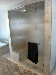 Glass Wall Doors by Folding Glass Door Combined With Glass Wall Also Cream Tile Wall