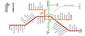 map of the underground in cairo metro map underground map and travel information