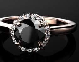 black diamond engagement rings for women black diamond engagement ring etsy