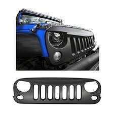 jeep wrangler front grill abs matte black jk jeep wrangler front grille