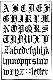 18 gothic script font images gothic font alphabet letters