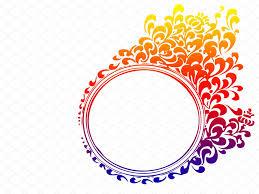 blue circle flame border ppt backgrounds border u0026 frames