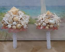 seashell bouquet 6 package seashell bouquet davids bridal pool blue