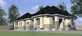 4 Bedroom House Plans Bedroom Bungalow Plan In Nigeria 4 Bedroom Bungalow House Plans 4