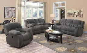 Recliner Living Room Set Weissman Charcoal Reclining Living Room Set From Coaster 601921