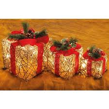 Christmas Decoration Light Up Presents by Set Of 3 Light Up Presents Home Coopers Of Stortford