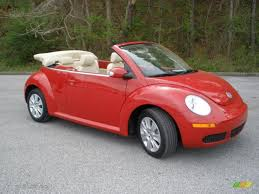 volkswagen beetle red convertible salsa red 2008 volkswagen new beetle s convertible exterior photo