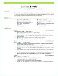 restaurant server resume skills for server resume