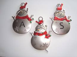 metal snowman ornaments ebay