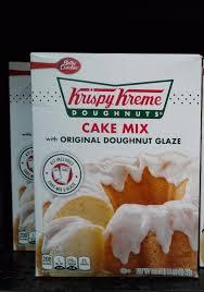 krispy kreme doughnuts cake mix with original doughnut glaze ebay