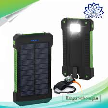 battery powered emergency lights china 8000mah solar charger portable solar power bank outdoors