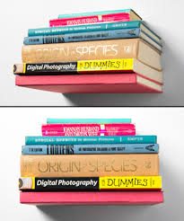 conceal invisible bookshelf make books appear to magically float