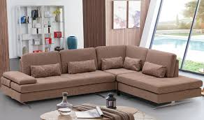 Fabric Sectional Sofas With Chaise Colombo Fabric Sectional Sofa In Beige Free Shipping Get Furniture