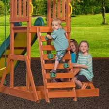 prestige wooden swing set playsets backyard discovery
