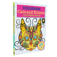 amazon colorama cats u0026 kittens coloring pages adults