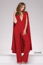 cape jumpsuit jovani 46031 jersey jumpsuit with cape novelty