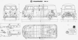 volkswagen drawing volkswagen type 2 t1 blueprint download free blueprint for 3d