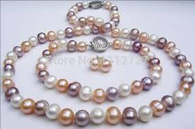 colour pearl necklace images 2017 new fashion charming natural stone 8 9mm mixed colour pearl jpg