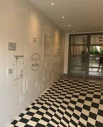 Tile Flooring Living Room Floor Decorated With Ceramic Tiles That Create Optical Illusions