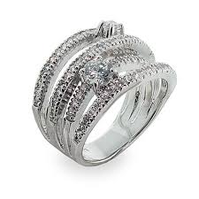highway wedding band sterling silver cz highway ring s addiction