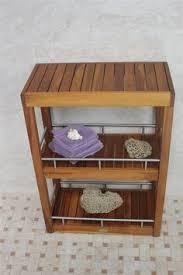 the original kai corner teak bath shelf with square legs bath