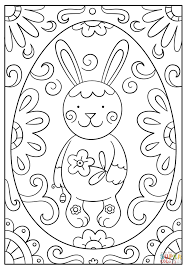 easter bunny doodle coloring page free printable coloring pages