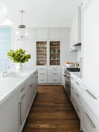floor to ceiling kitchen built ins with glass china cabinet
