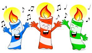 singing birthday birthday candles singing a birthday song stock vector