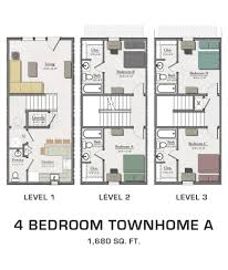 four bedroom townhomes 4 bedroom townhome a hannah lofts and townhomes