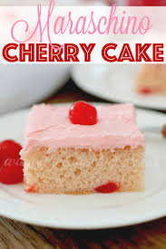 maraschino cherry cake the country cook