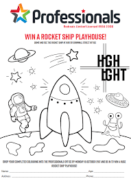 professionals redcoats highlights rocket ship colouring competition